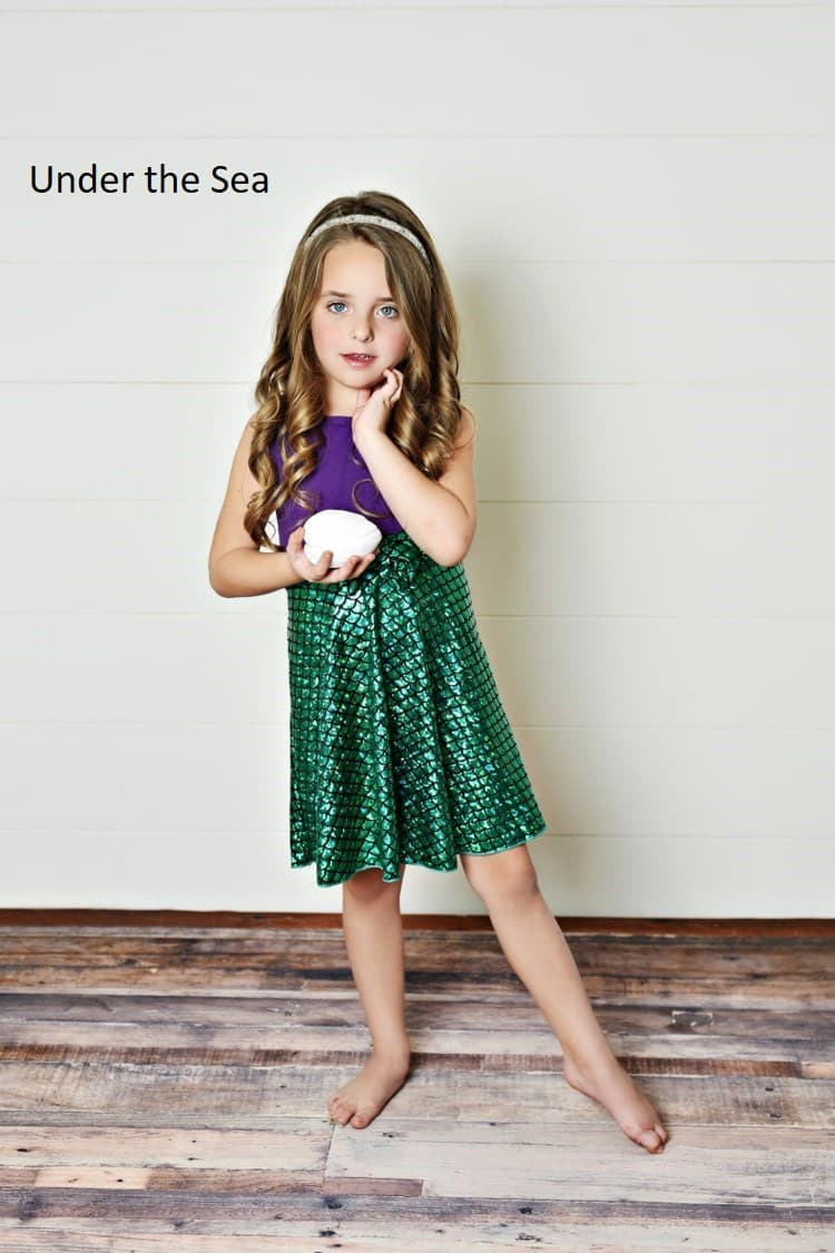 little mermaid inspired dress