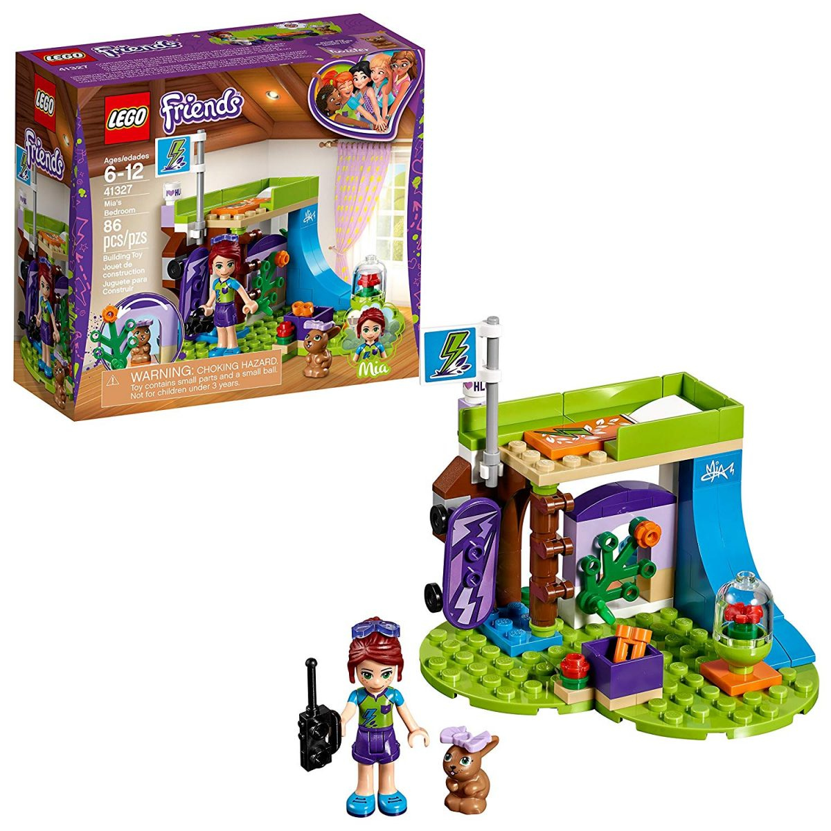 Lego Friends Mias Bedroom 86 Piece Building Set At Only 5 Ships W