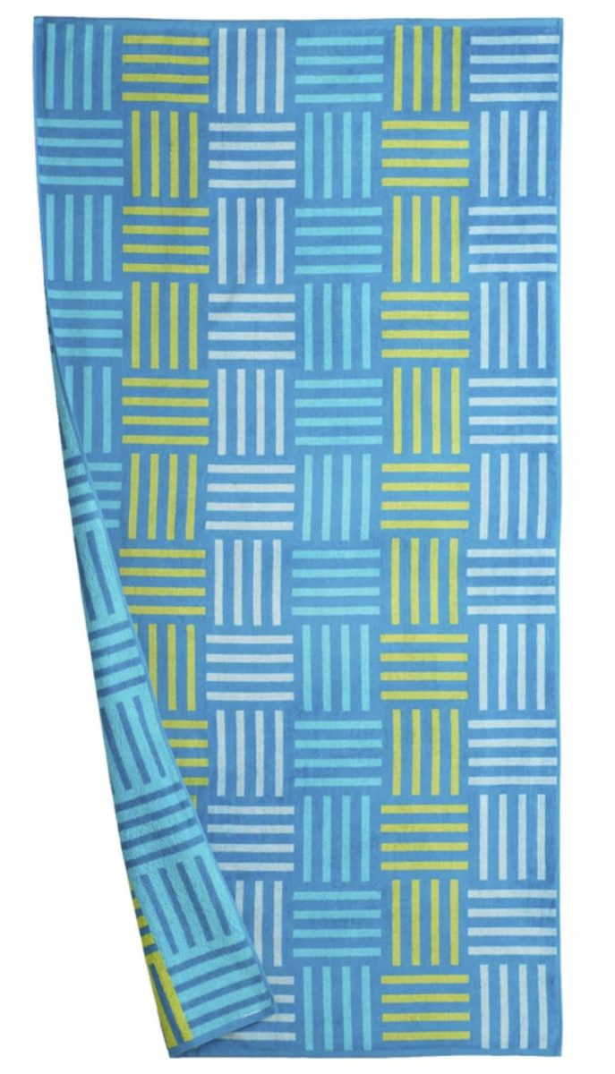 the big one beach towel blue