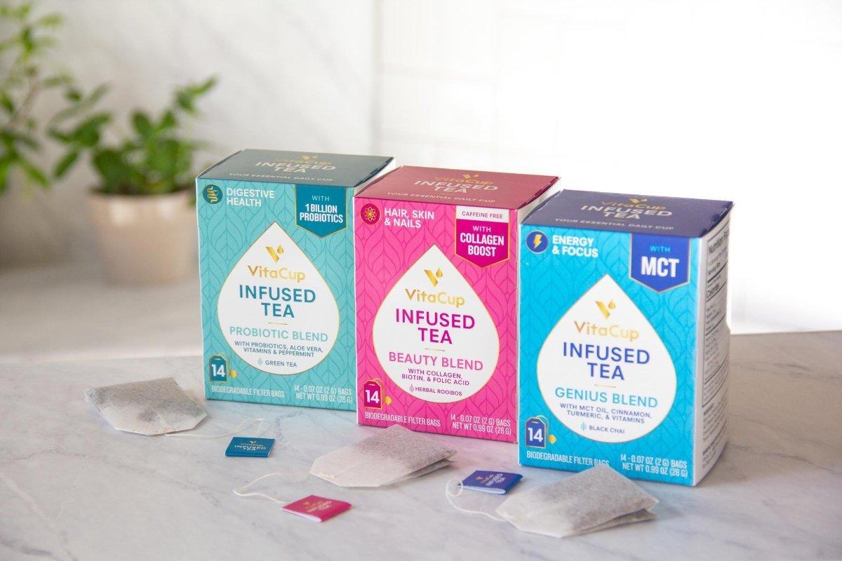 vitamin infused tea and coffee