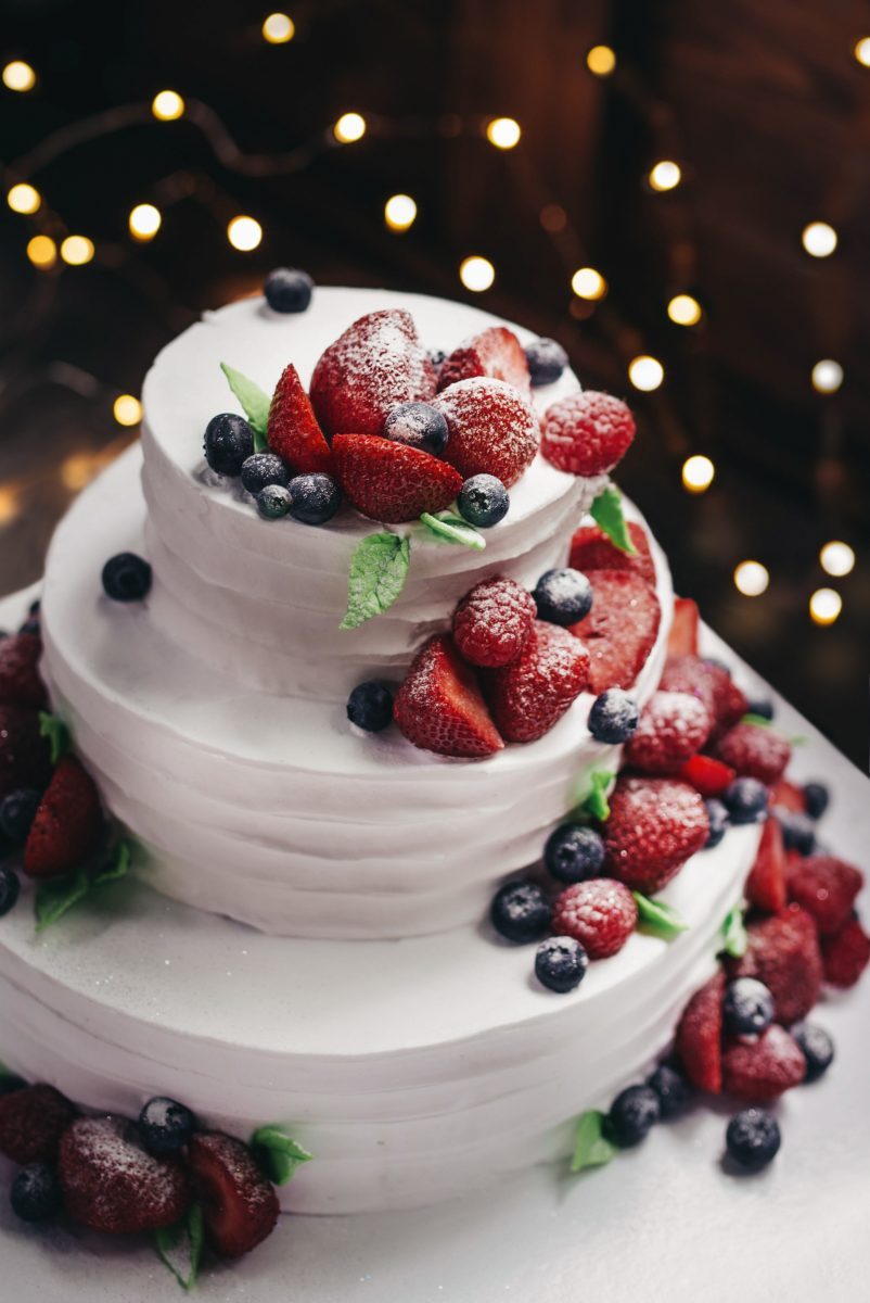 red white and blue food dessert