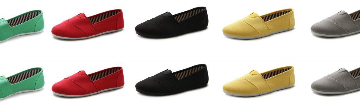Ollio Women's Shoe Slip on Sneaker Canvas Flat