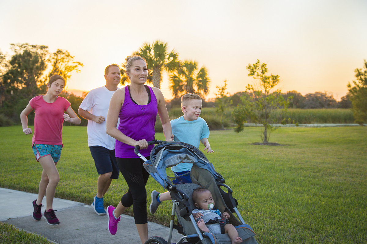 staying active as a family