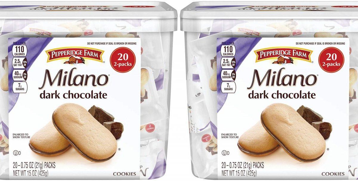 milano dark chocolate cookie